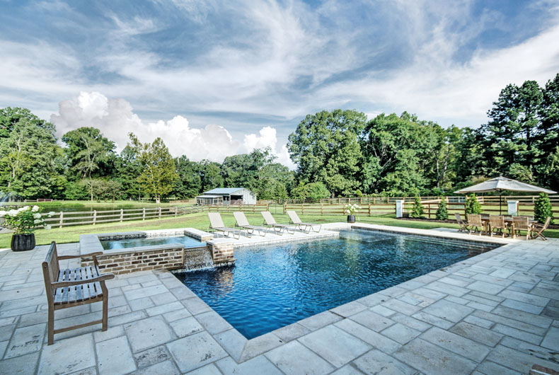 Swimming pools outdoor living spaces outdoor solutions for Pool design jackson ms