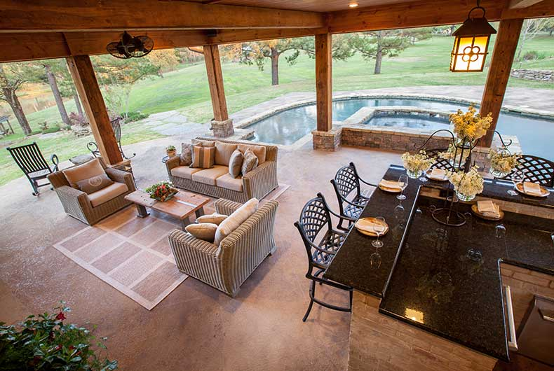 Outdoor Kitchens Outdoor Solutions Jackson MS Gorgeous Pool And Outdoor Kitchen Designs