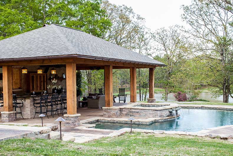 House plans with pools and outdoor kitchens
