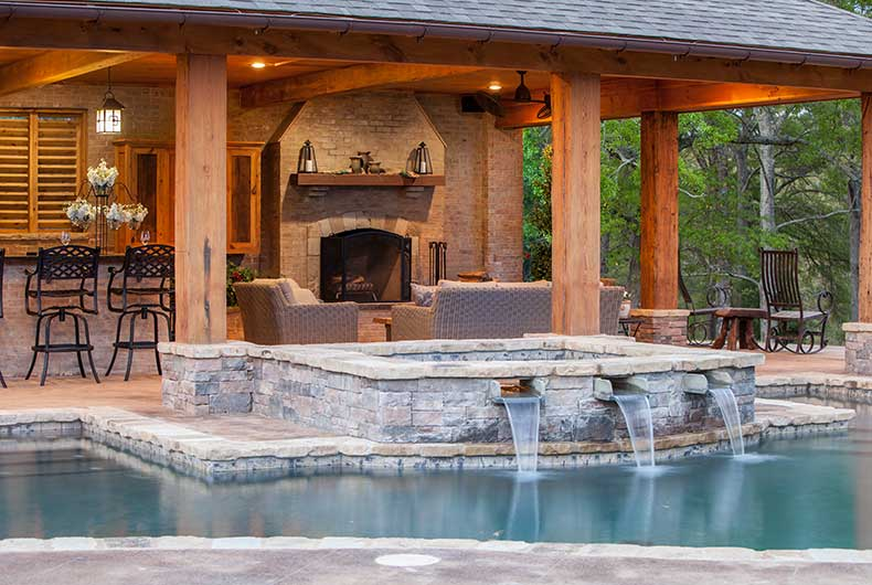 Outdoor living spaces outdoor solutions jackson ms - Water features for small spaces plan ...