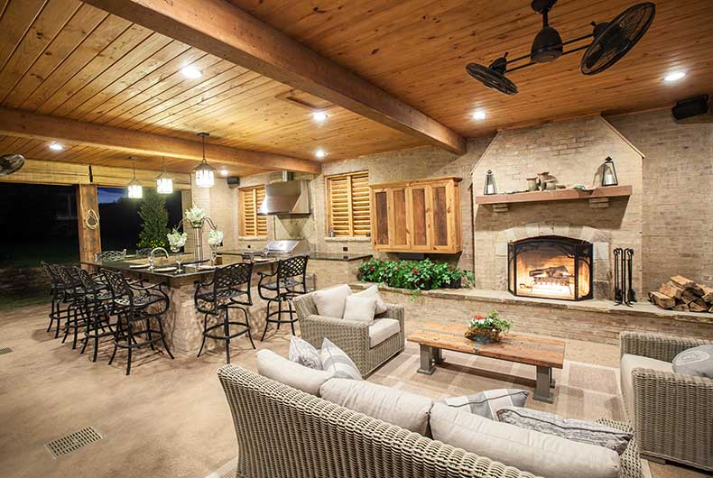 outdoor kitchen and fireplace l shaped outdoor kitchen fireplace swimming pools flowood ms