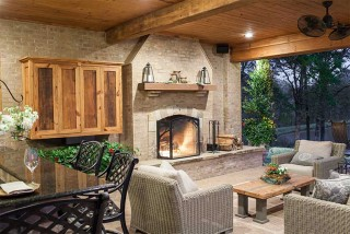 Outdoor Fireplace - Outdoor Fire Pit - Madison, MS
